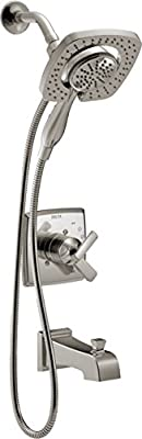 Delta Faucet Ashlyn 17 Series Dual-Function Trim Kit with 2-Spray Touch-Clean In2ition 2-in-1 Hand Held Shower Head with Hose