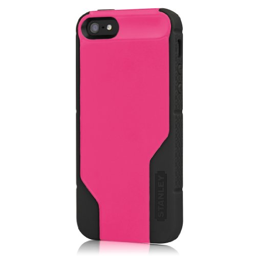 Stanley Technician for iPhone 5 with Holster - Pink/Black - 1 Pack - Carrying Case - Retail Packaging - Pink/Black