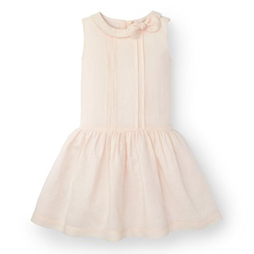 Hope & Henry Girls Light Pink Collared Drop Waist Dress Made With Organic (Girls Drop Waist Dress)