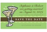 Save the Date Wedding Flutes Magnets