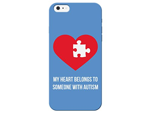 Autistic Awareness My Heart Belongs to Someone With Autism Phone Back Cover For Apple Iphone 4 / 4s (Awareness Iphone 4 Covers)