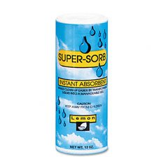 (Super-Sorb Liquid Spill Absorbent in Shake Can, Lemon Fragrance, 12 Ounce (FRS6-14-SS) Category: Sorbents)