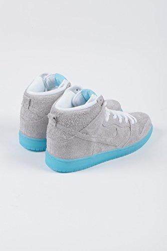 "Herren Nike Dunk High Premium SB ""Uprise"" Skateboardschuhe - 313171 061 Weiß / Weiß / Polarisiert Blau"