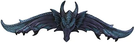 Ebros Large 34.25″Wide Medieval Fantasy Midnight Blue Blood Overwatch Dragon