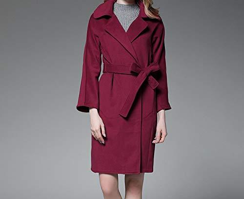 Amazon.com: Woman Wool Coat Jacket Women Slim Doulbe Side Woolen Long Coats Womens Windbreaker Casaco: Clothing