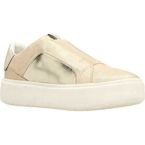Argento Geox Oro Pelle Con Donna Slip Platform 0kybn On Sneakers Nhenbus D828db C1007 In A8xqApO