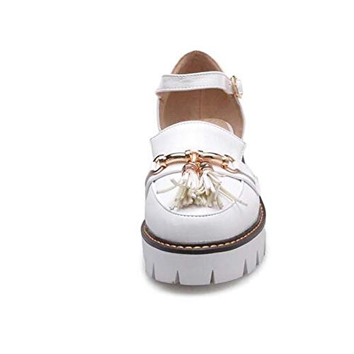 Women's PU White Summer Heel ZHZNVX Chunky Shoes Pump Heels Black White Polyurethane Basic 4waqAEvqd