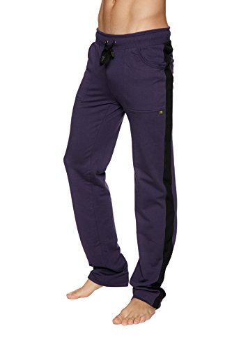 4-rth Men's Eco-Track Pant (Medium, Eggplant Purple w/Black)