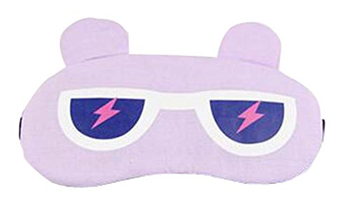 Eyeshade Travel Sleep Goggles Cute Face Eye Cover Eye Mask Purple (Heat Signature Goggles compare prices)
