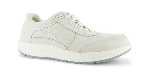 P W Minor Performance Walker Women's Therapeutic Casual Extra Depth Shoe: White 8 Wide (D) Lace Minor Womens Performance Walker