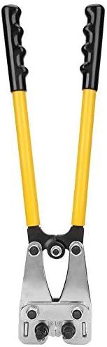 SSY-YU 6〜50ミリメートルターミナルクリンパー、圧着銅アルミオープンラグターミナルのためのHY-0650ワイヤー圧着ペンチケーブルクリンパーハンド圧着工具(HY-0650) ペンチ 切断工具