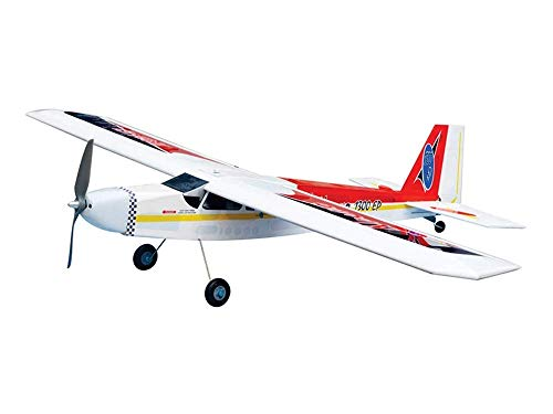 Planes Electric Arf (VMAR Nouvo 1300EP Electric Plane Kit - Red Power Module Motor Mount Main 50mm and Tailwheel 25mm ARF Scale Nouvor)