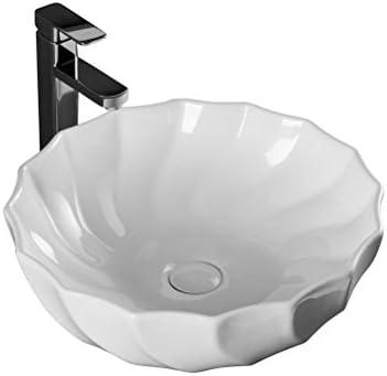 セラミックラウンド手描きミニステージ洗面浴室バルコニーアート盆地35センチメートル洗面 P4/18