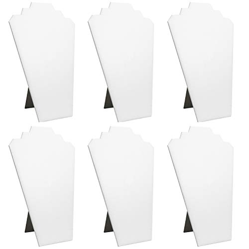 White Faux Leather Padded Necklace - Mooca 6 Pieces White Faux Leather