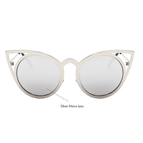 KLXEB Metall Auge Sonnenbrille Spiegel Katze Sonnenbrille C11 Vintage Sexy Frauen C7 Rahmen Tonos Brillen ZBYwrqZ