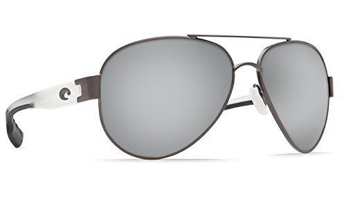 Costa Del Mar South Pt. 580P South Pt., Gunmetal with Crystal Temples Silver Mirror, Silver - Point Sunglasses Costa South