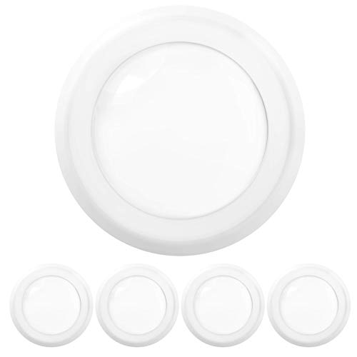 Sunco Lighting 4 Pack 5 Inch / 6 Inch Flush Mount Disk LED Downlight, 15W=100W, 3000K Warm White, 1050LM, Dimmable…