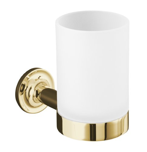 - Kohler K-14447-PGD Purist Tumbler and Holder, Vibrant Moderne Polished Gold
