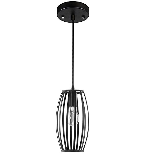 Black Wrought Iron Pendant Light in Florida - 7