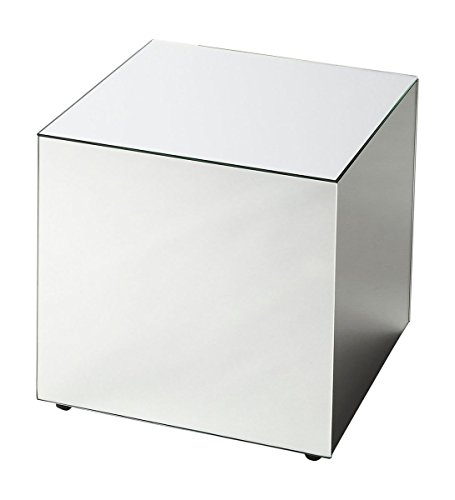 Offex Modern Square Mirrored Bunching Cube - Clear (Square Bunching Cocktail Table)