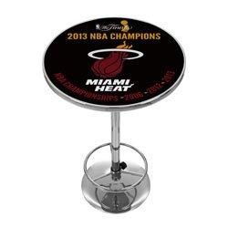 (NBA Miami Heat 2013 NBA Champions Chrome Pub Table)