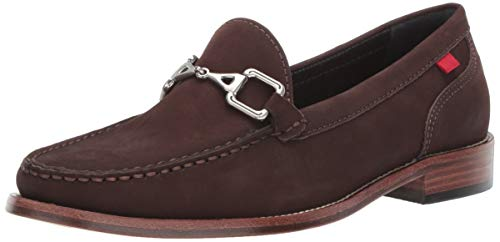 MARC JOSEPH NEW YORK Womens Leather Park Ave Buckle Loafer, Brown Nubuck, 10 B(M) US