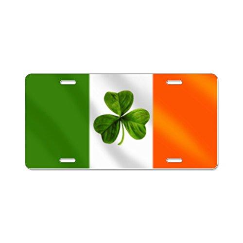 Irish Shamrock Plate - CafePress - Irish Shamrock Flag Aluminum License Plate - Aluminum License Plate, Front License Plate, Vanity Tag