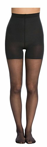 (Spanx Stand Out Womens Mid-Thigh Shaping Sheers Backdrop Black (B))
