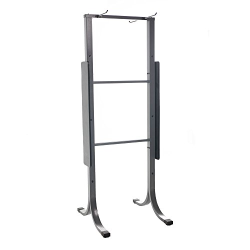 Power Systems Dual-Sided Standing Mat Rack, Holds Up To 28 Yoga Mats, 30 x 29 x 79 Inches, Gray (92590) by Power Systems