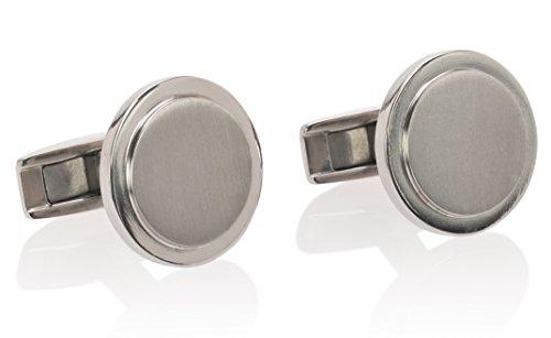 Lorenzo Titanium Brushed Polished Cufflinks product image