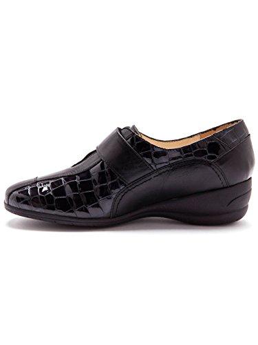 Noir Chaussures confort à auto largeur Pediconfort patte derbies agrippante zO4w8w