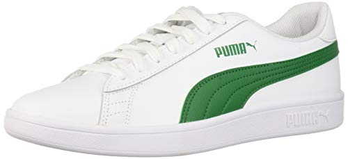 (PUMA Men's Smash v2 Sneaker, White-Amazon Green, 8 M US)