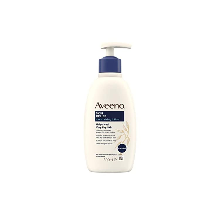 Aveeno Skin Relief Moisturising Lotion, Soothes Skin From Day 1, Body Lotion for Very Dry and Irritable Skin Care, 300…