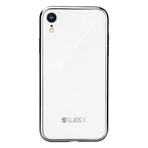 流産つかいます反乱iPhone XR ケース ガラス 硬度9H 強化ガラス ハイブリッド 背面 ガラスケース iPhoneの質感を再現した カバー SwitchEasy GLASS X [ Apple iPhoneXR アイホンXR アイフォンXR ] ホワイト