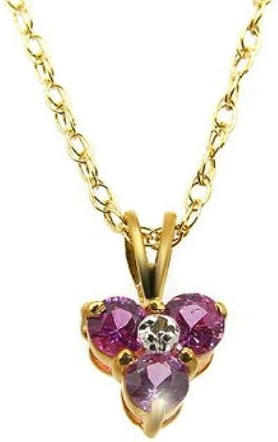 Pendentif - 181P0014-33/9AM - Colgante de mujer de oro amarillo (9k) con diamantes y zafiros, 46 cm
