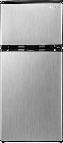 Insignia 4.3 Cu. Ft. Mini Fridge - Stainless steel look
