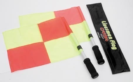 Neu Carta Sports Fußball Linienrichter Schläger Official Linien Man Flaggen Schiedsrichter Set