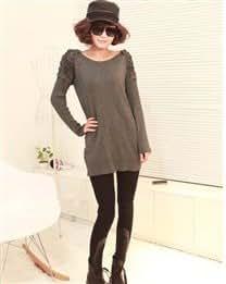 Fashion Cotton Blends & PU Jointing Tight Winter Warm Elastic Long Women Leggings
