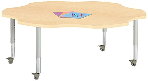 Berries 6458JCM251 Six Leaf Mobile Activity Table, 60