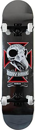 "Birdhouse Skateboards Tony Hawk Skull II Chrome Foil Complete Skateboard - 7.75"" x 31.5"""