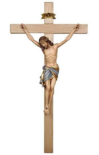 - Hand Carved, Hand Painted, PEMA Siena Italian Crucifix (11