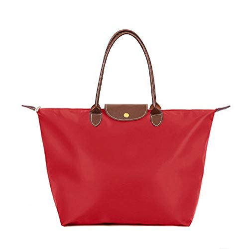 Stylish Bags Women's Bekilole Tote Waterproof Shoulder Nylon Travel Bag Red Beach waqA4Fxq5W