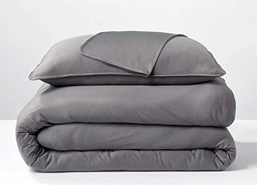 Sheex Performance Cooling Duvet Cover Soft Breathable For Superior Comfort Graphite Full Queen