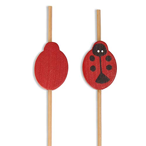 BambooMN Decorative Lady Bug Cocktail Fruit Sandwich Bamboo