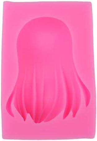 DIY手作り クラフト 装飾ツール 人形ロングヘア シリコン金型 全3選択 - #1