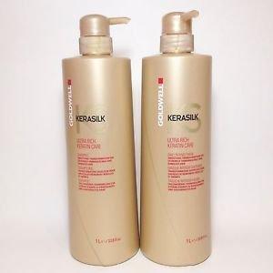 amazon com goldwell kerasilk ultra rich shampoo and treatment
