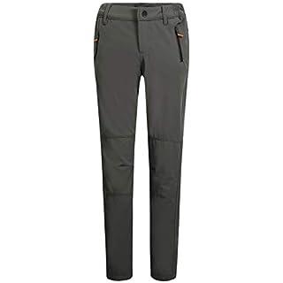 Camii Mia Women's Windproof Waterproof Sportswear Outdoor Hiking Fleece Pants (27W x 30L, Charcoal Grey)