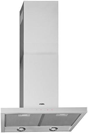 Mora OK 673 GW De pared Gris, Plata 680m³/h - Campana (680 m³/h, Canalizado/Recirculación, 54 dB, De pared, Gris, Plata, 20 W): Amazon.es: Hogar