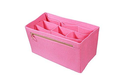 [Fits Various Bags, L.V Her.mes Long.champ Go.yard] Felt Tote Organizer (w/ Detachable Compartments), Purse Insert, Cosmetic Makeup Diaper Handbag, Belongings Pocket by Hush Gecko