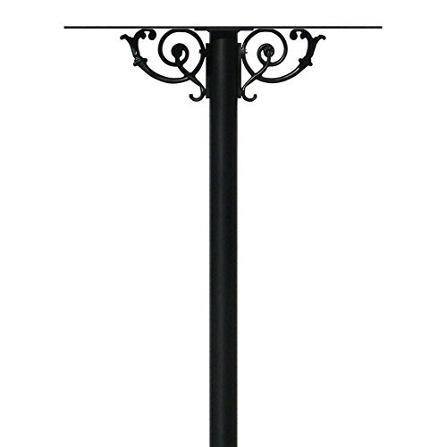 The Hanford Rust Free Cast Aluminum Quad Mailbox Post System Base with Scroll Supports, Mailboxes Sold Separately, Ships in 2 Boxes